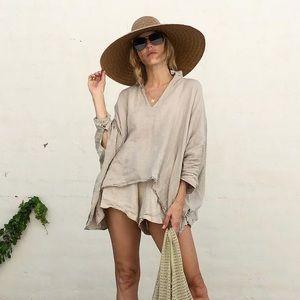 The Wylde Linen long sleeve top